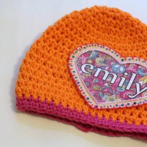 Baby Beanie, Personalized Childs Ha..